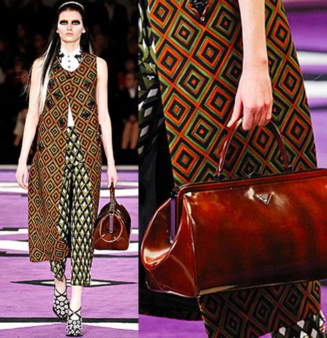 Miuccia Prada goes 70s style in Prada\u0026#39;s Fall 2012 ...
