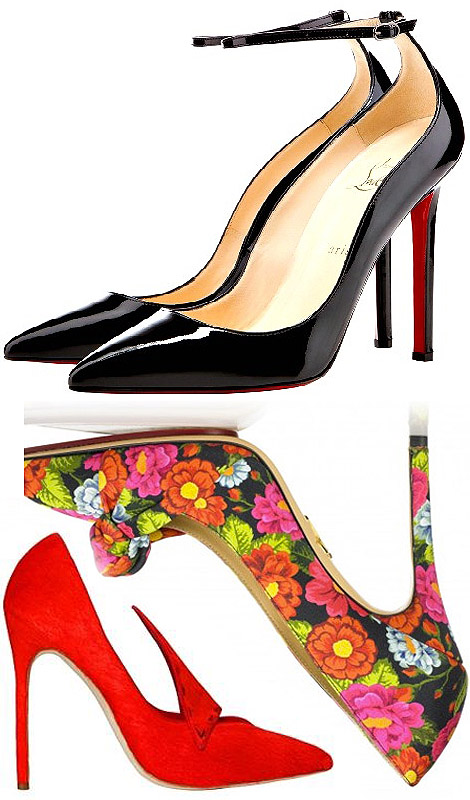 point toe heels