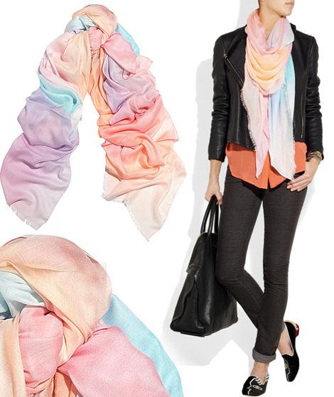 pastel scarf