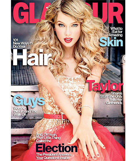 Taylor Swift Twinkles On Glamour US November 2012 Cover